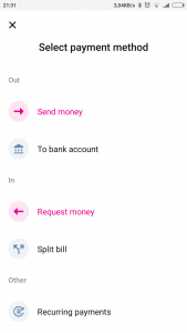 Revolut - payment method