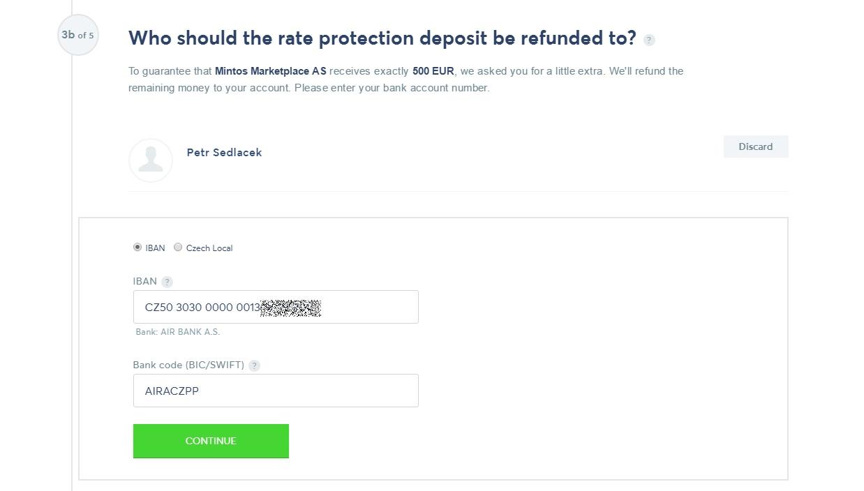 TransferWise - depozit