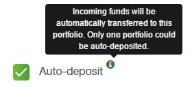 Robo.cash - auto-deposit
