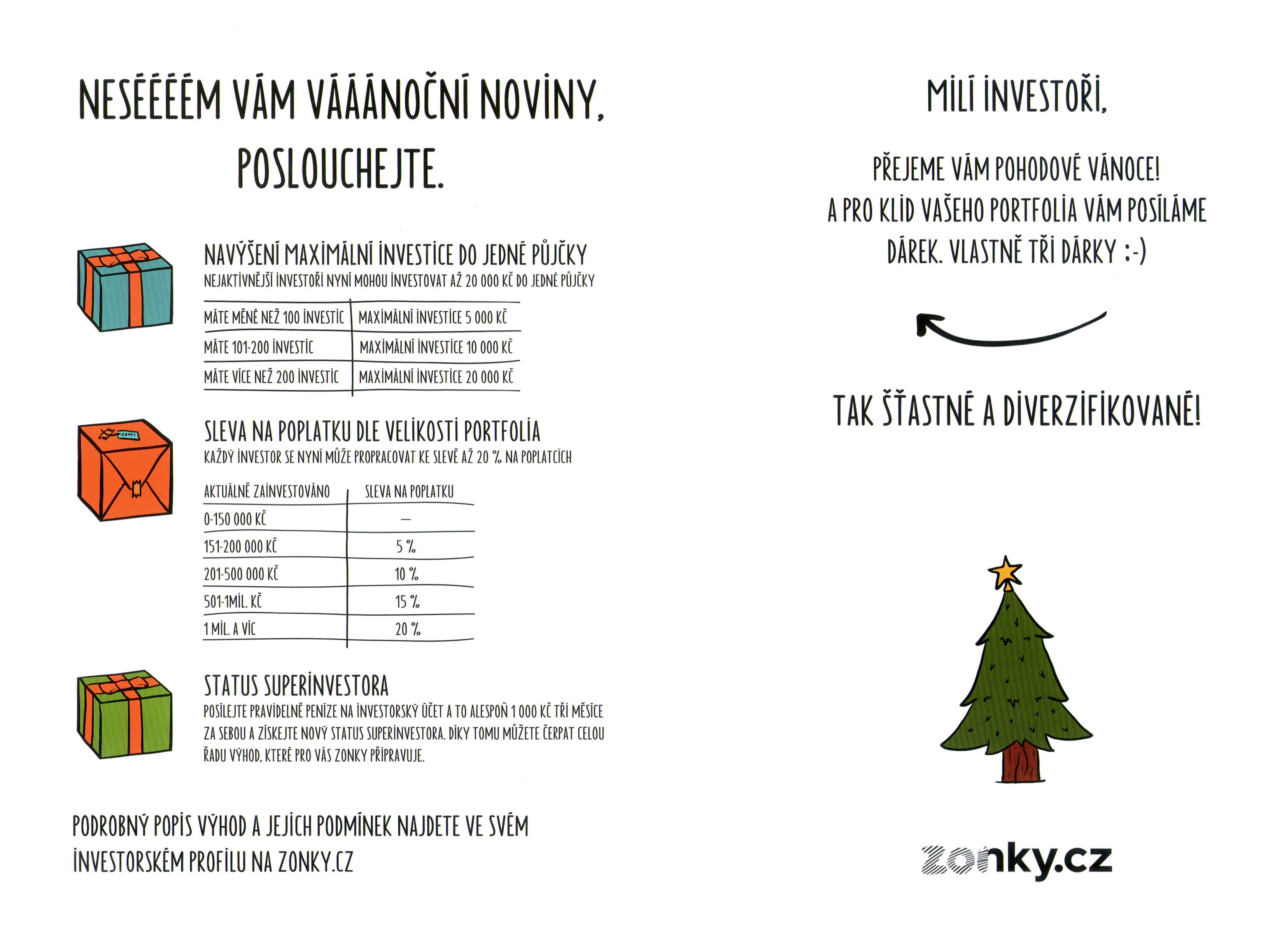 Zonky - vánoční newsletter