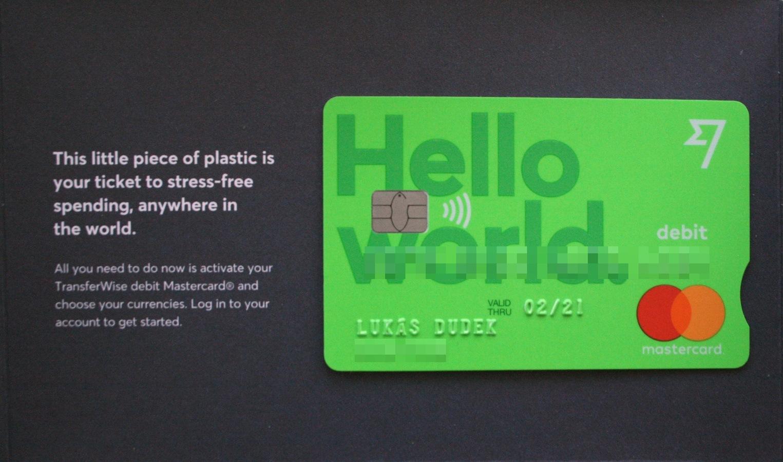 Debetní karta od TransferWise