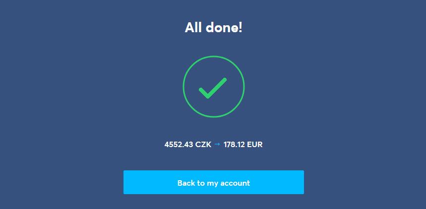 Odeslání platby