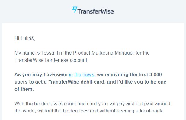 TransferWise - beta test