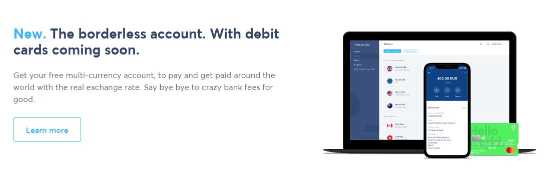 Příchod multiměnové karty od TransferWise